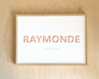Welcome to the world Raymonde!  - ROSE PERSONNALISABLE AFFICHE