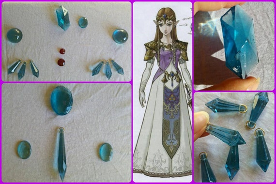 The Legend Of Zelda Twilight Princess Cosplay Resin Gems 1 Lot 16 Pieces Made To Order