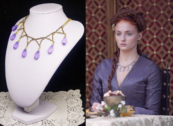 Game Of Thrones Purple Wedding.Sansa Stark Purple Wedding Poison Necklace Game Of Thrones Inspired Cosplay Or Fancy Dress Prop
