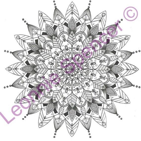 Mandala Färbung Page PNG herunterladen