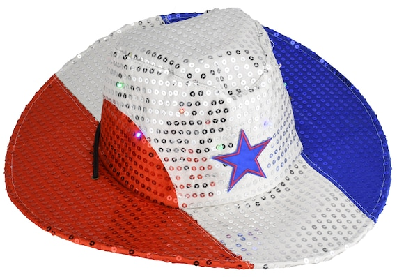 Uncle Sam Flashing Patriotic Hat with LED Lights for 4th of July Party Favors