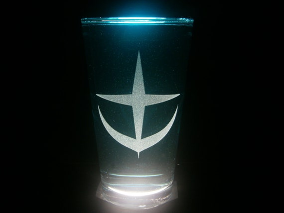 Earth Federation Mobile Suit Gundam Pint Glass