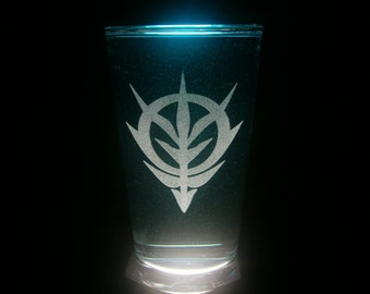 Zeon Axis Zeta Gundam Pint Glass