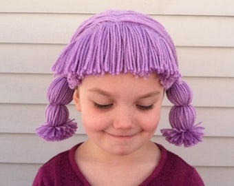 Kids Halloween costume wig, Kids costume hair, Dress up hair, Dress up play, Pretend play, Toddler costume, Toddler Halloween, Yarn wigs