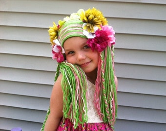 Girls Halloween costume wig, Costume Hair, Girls costume, Womens costume, Womens wig, Gift for girls, Yarn wig, Pretend Play, Dress up hair