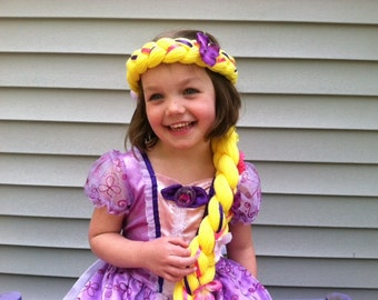 Rapunzel braid Kids Dress up Hair Kids gift Toddler Gift Gifts for girls Rapunzel dress up Rapunzel hair Rapunzel wig Rapunzel party  sc 1 st  Etsy & Rapunzel costume   Etsy