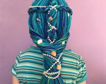 Mermaid Wig, Mermaid Costume, Kids Halloween costume, Womens costume, Kids costume, Costume Hair, Mermaid Hair, Costume Wig, Mermaid Cosplay