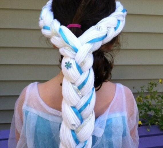 Elsa Yarn Hair For Kids Kids Christmas Gift Little Girl Etsy