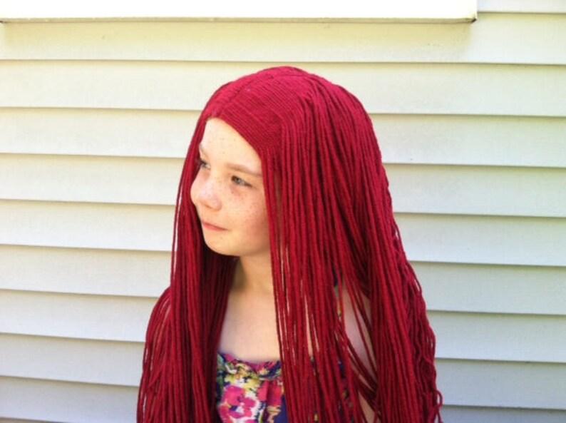 Rosso lungo parrucca parrucca donna parrucca Sally costume  2d1b1be5dfc7