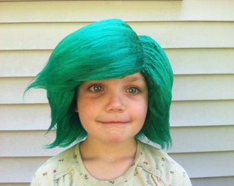 Green wig, Girls Halloween costume, Elf costume, Elf wig, Christmas Outfit, Kids costume, Kids Halloween, Womens Halloween, Pretend Play