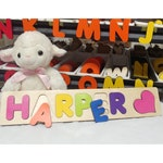 Wooden Name Puzzle, Personalized Toy, Puzzles For Toddlers