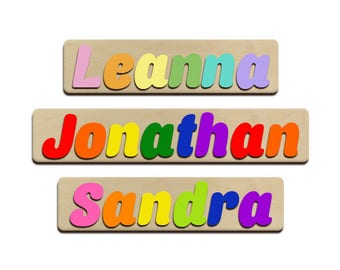 personalized puzzle for kids etsy