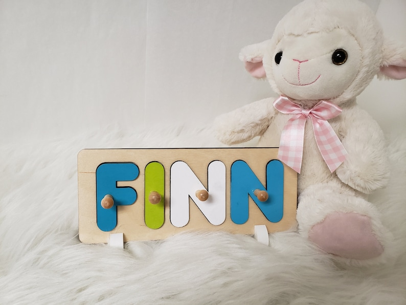Wooden Name Puzzle Puzzle With Handles Babies First image 0