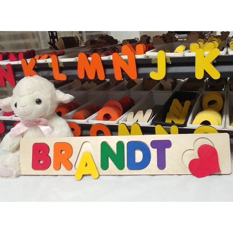 Wooden Name Puzzle Personalized Toy Puzzles For Toddlers Primary