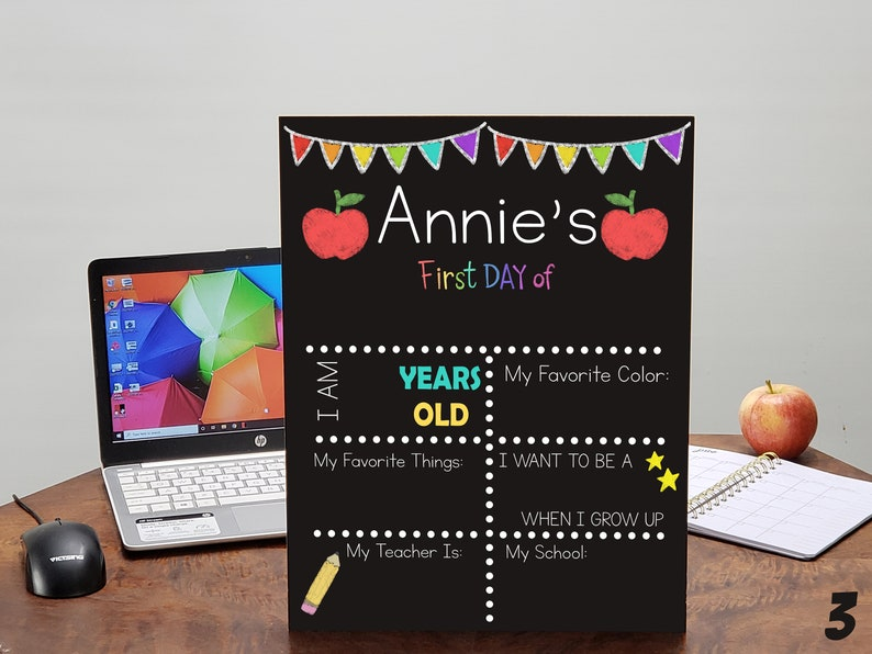 First Day Of School Back To School Personalized Sign For image 3