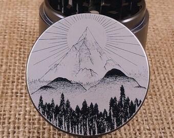 The Mountain - Laser Engraved Herb Grinder