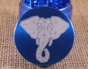 Elephant Geo - Laser Engraved Herb Grinder