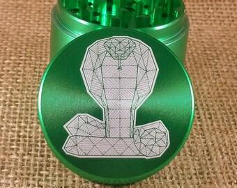 Snake Geo - Laser Engraved Herb Grinder