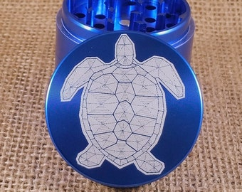 Turtle Grace - Laser Engraved Herb Grinder