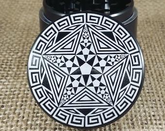 Penta – Laser Engraved Herb Grinder