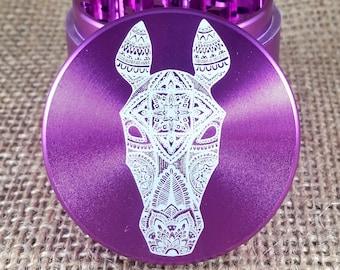 Horse Mandala - Laser Engraved Herb Grinder