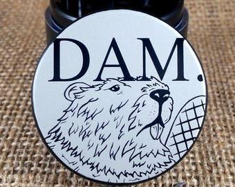 Dam Beaver - Laser Engraved Herb Grinder