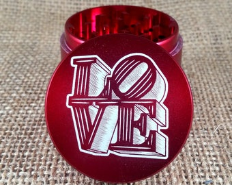 Love Statue - Laser Engraved Herb Grinder