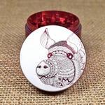Pig Mandala - Laser Engraved Herb Grinder