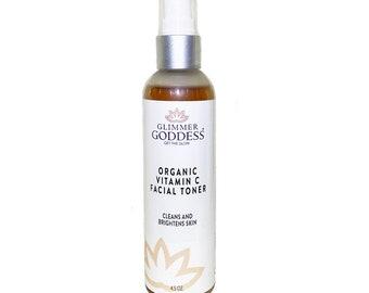 Organic Vitamin C Energizing Toner, Rose Toner, Acne Toner, Organic Toner, Anti Aging Skin Care | Vegan Skincare | Organic Skincare