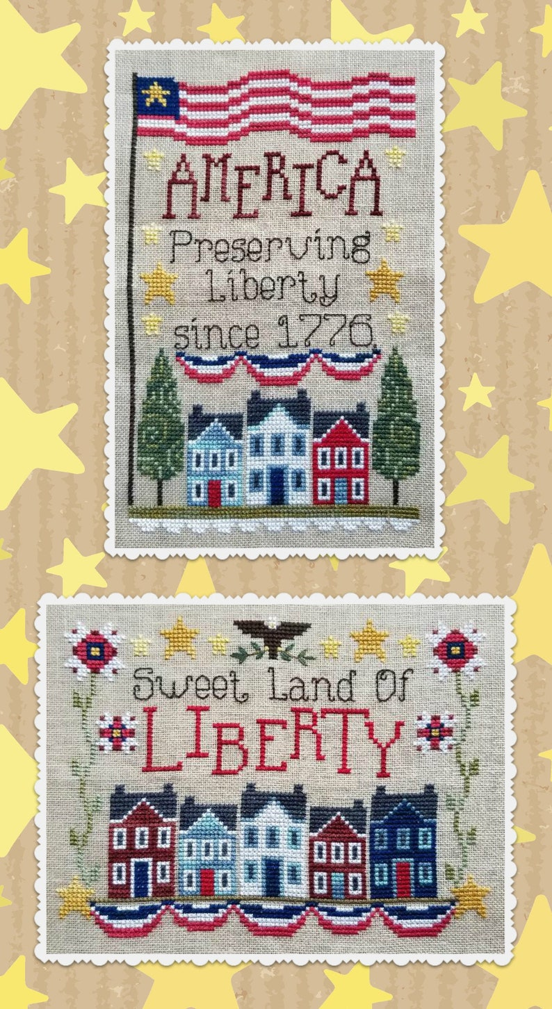PRESERVING LIBERTY Digital Design for Cross Stitch by Waxing image 0