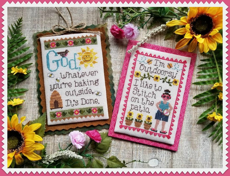 SUMMER MUSINGS  Digital Pattern for Cross Stitch by Waxing image 0