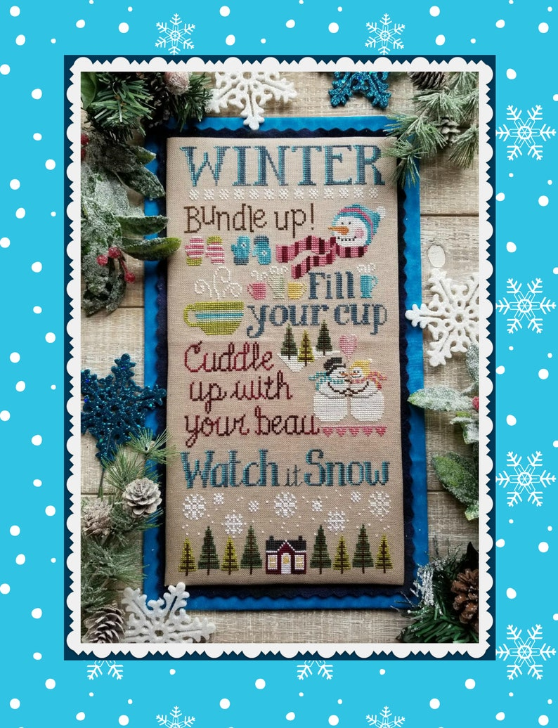 WATCH it SNOW Digital Pattern for Cross Stitch by Waxing image 0
