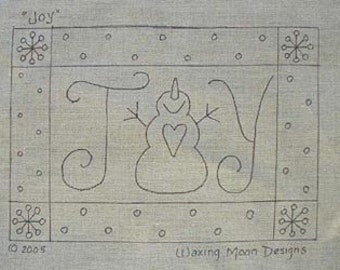 Hand Drawn Rug Hooking Pattern: JOY 13x19