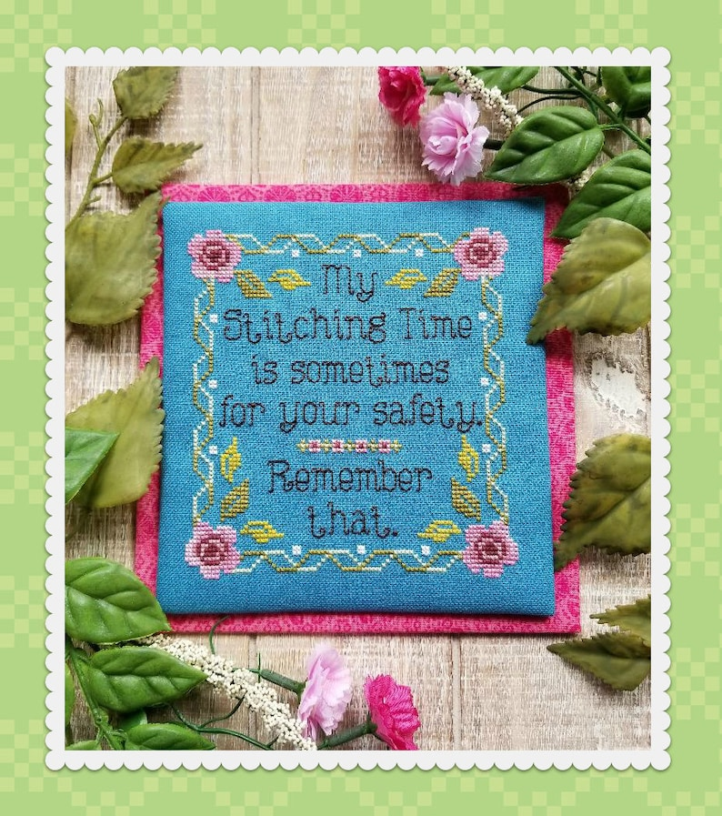 MY STITCHING TIME Digital Pattern for Cross Stitch by Waxing image 0