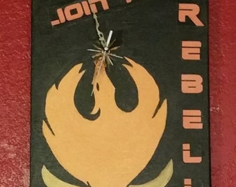 Star Wars Rebels Logo Clock