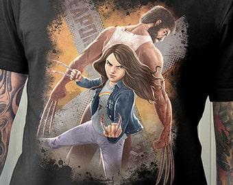 Logan inspired Shirt | X-23 | Wolverine | PREMIUM QUALITY | Comic Tee | Geek Clothing | T-Shirt | Geek Tee