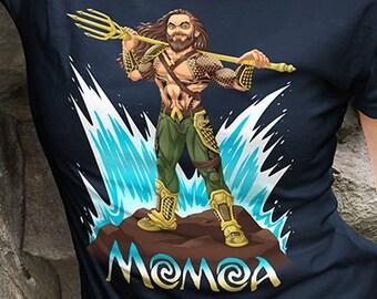 Moana x Jason Momoa Crossover | Aquaman | Disney | Mashup | Shirt | Clothing | T-Shirt | Geek Tee