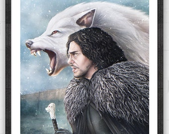 King of the North | Fantasy inspired Poster | digital art | painting | quality giclée print