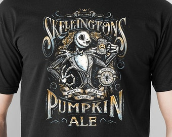 8b6fb7b38a1 T Shirt of Jack Skellington Parody Pumpkin Ale Beer Label design art  clothing design for Men and Women by Kolabs Studios