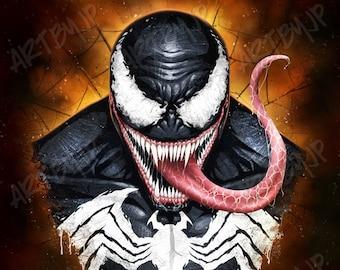Venom inspired Poster | digital art | painting | quality giclée print