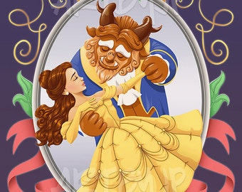 Beauty and the Beast | Princess Belle | Premium Quality Giclee Archival Poster Print