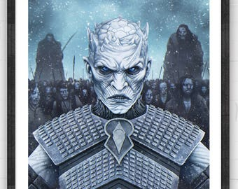 Night King | Fantasy inspired Poster | digital art | painting | quality giclée print