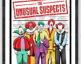 Unusual Suspects Painting Premium Quality Giclee Archival Print | Parody Poster