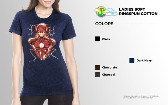 Adult Men/'s DC Comics The Flash Super Hero Run Flash Run Charcoal T-shirt Tee