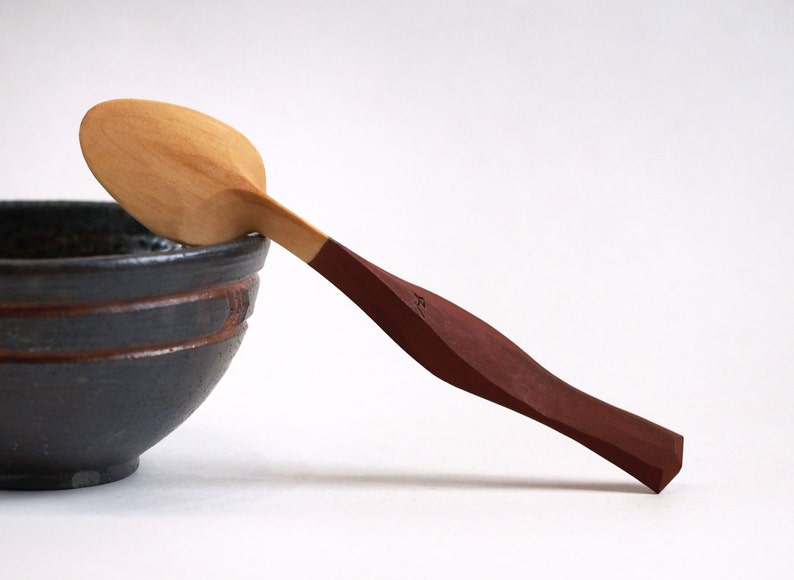 wooden spoon Table spoon wood spoon birch tooled finish eating spoon hand carved red spoon