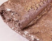 Rose Gold Sequin Fabric, by The Yard, Sequin Fabric, Tablecloth, Linen, Sequin Tablecloth, Runner glitz shining sequin sold by the yard