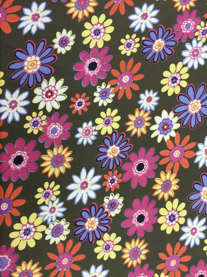 5556947cec3 Rayon challis Flower Power 58-60w Fabric by the yard