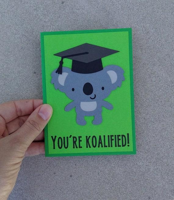 graduation card koala greeting card funny graduation card etsy