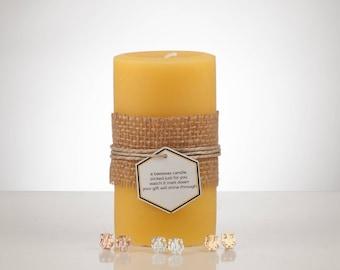 Owl Earring Beeswax Treasure Candle