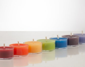 Chakra Beeswax Tealight Candles